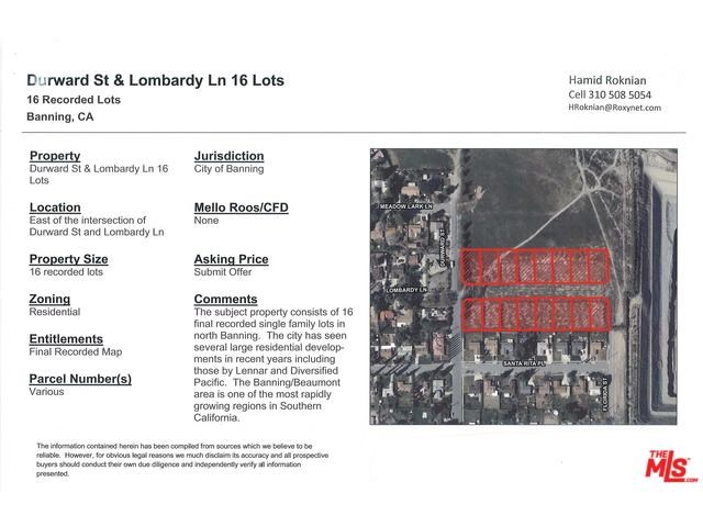 0 Lombardy, Banning, CA 92220