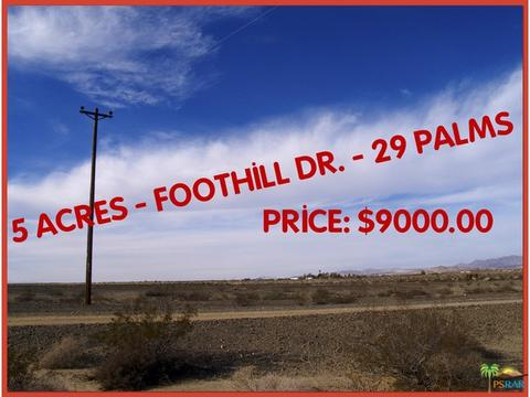 6900 Foothill Drive, 29 Palms, CA 92277