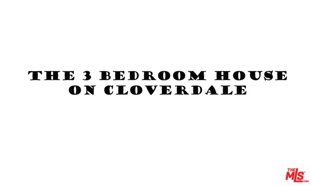 1344 S Cloverdale Avenue, Los Angeles, CA 90019