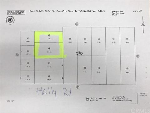 0 Holly Rd2 Lots, Adelanto, CA