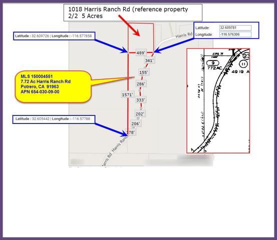 7 72 Acres Harris Ranch Rd #09, Potrero, CA 91963