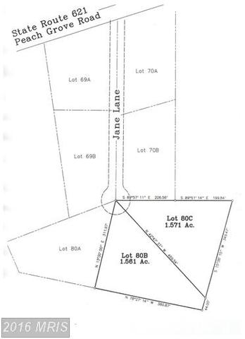 Lot 80c Jane Ln, Louisa, VA 23093
