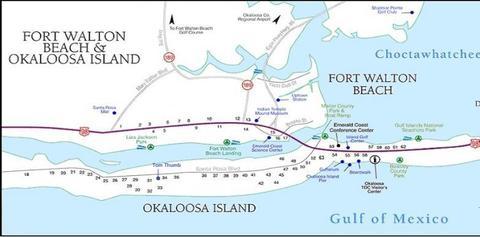 Map Of Fort Walton Beach Florida.300 Sw Miracle Strip Pkwy Unit 1a Fort Walton Beach Fl 32548 Mls