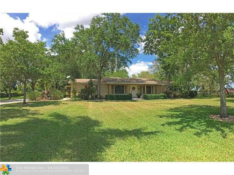 14301 W Palomino Drive, Southwest Ranches, FL 33330
