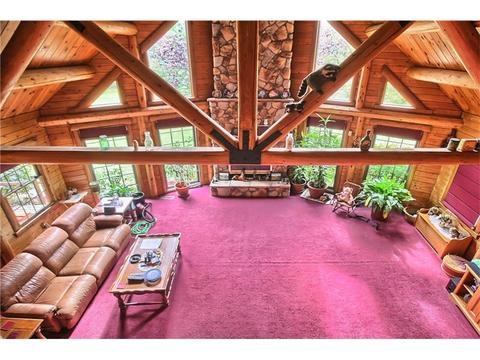 Beautiful Log Home Living Room Model - Living Room Designs ...