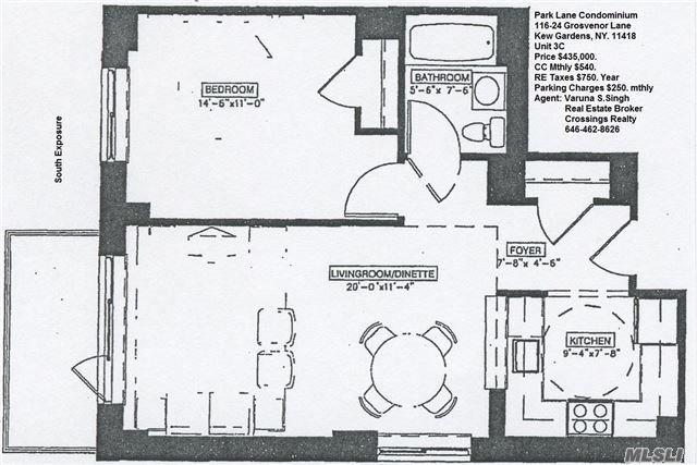 116-24 Grosvenor Ln #3C, Kew Gardens, NY 11415