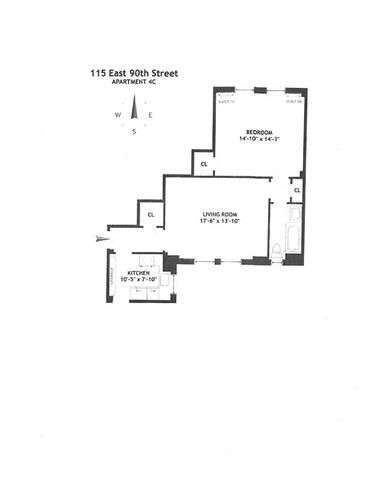 115 E 90th St #4-C, New York, NY 10128