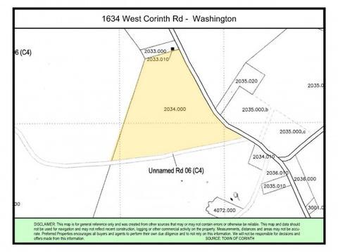 Corinth Washington Map.1634 W Corinth Rd Washington Vt 05675 Mls 4514305 Movoto Com